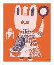 【取寄品】【送料無料】see saw. カフェ風インテリア パネルフレーム 赤のテーブル キャンバス イラストレーター 300×420mm お洒落インテリア通販