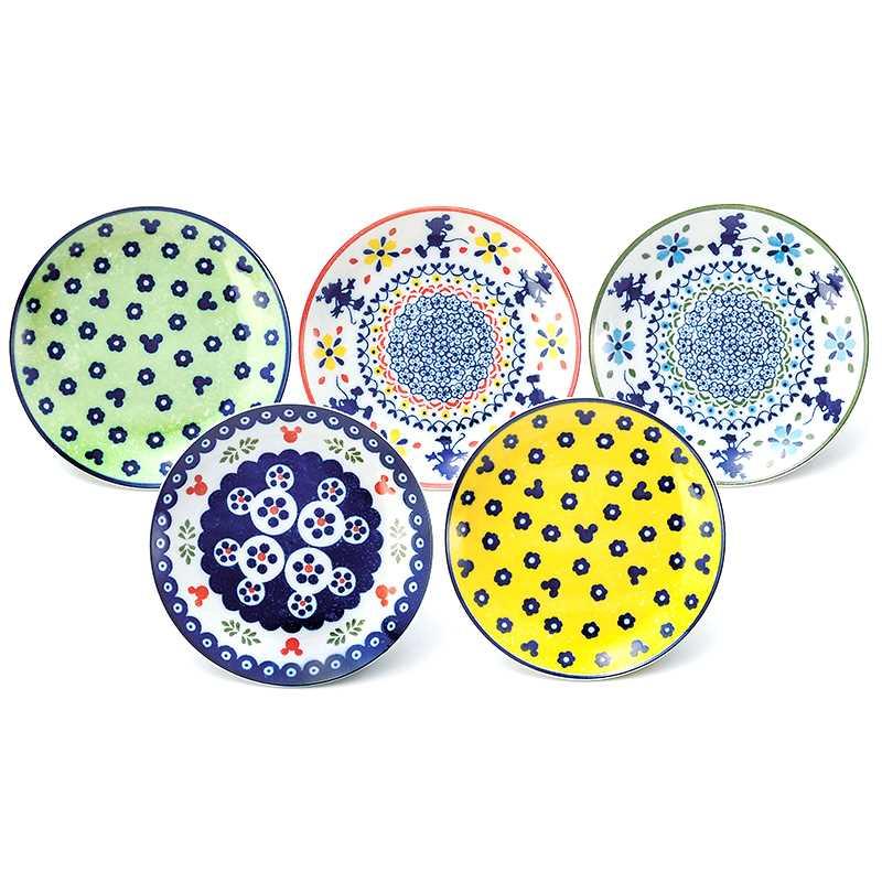 ミッキーマウス食器セットケーキプレート5枚セットPolishシリーズディズニー三郷陶器16cm中皿×