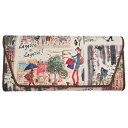 iZAK アイザック 長財布 クラッチ風ウォレット オムニバス サンアート 22×20.5×4.5cm フランス ガーリー雑貨グッズ通販 シネマコレクション