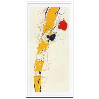有Sam Francis室內裝飾藝術設計師藝術Untitled 1985美工公司49*99.5cm墻壁裝飾額頭的抽象畫郵購電影收集