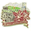 日本百名山 ピンバッジ 2段 ピンズ 美ヶ原 エイコー コレクションケース入り トレッキング 登山グ