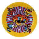 ミッキー & フレンズ ミニプレート 磁器製 豆小皿 オールスターロゴ ディズニー スモールプラネット ノスタルジカシリーズ プレゼント キャラクターグッズ メール便可 シネマコレクション