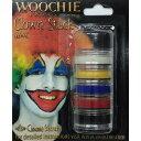 クリームメイクアップスタック クラウン 5色セット Cream Makeup Stack, Clown, (1/8oz×5) CC001C | 赤,黒,黄色,白...