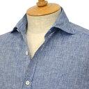 Giannetto【ジャンネット】リネンシャツ VINCIFIT AG85037V81 010 ブルー