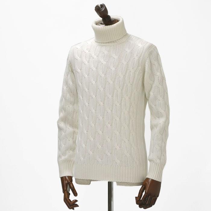 Cruciani【クルチアーニ】ケーブルタートルネック CU14.171 120W wool WHITE(ウール ホワイト)