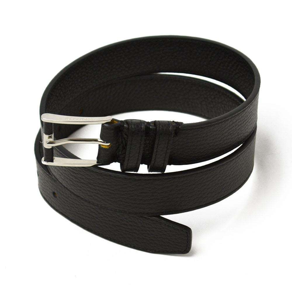 ARALDI 1930【アラルディ1930】ベルト 0681/ADRIA 00001 Leather BLACK (レザー シボ革 ブラック)