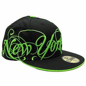 New Era Caps Black Green