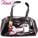 フェティッシュ レディース バッグ ミニボストン ブラック/ピンクFETISH Ladies' bag Mini Boston Black/Pink【あす楽対応_近畿】【あ..