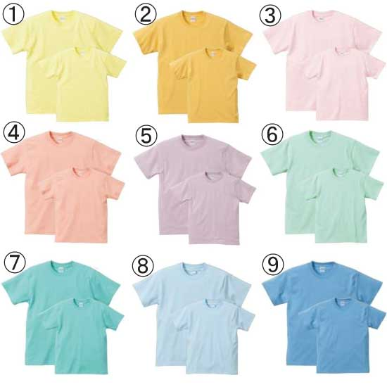 Cio inc rakuten global market 5001 united athle 5 6 oz for Pastel colored men s t shirts