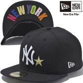 ニューエラ 5950キャップ スターロゴ アンダーバイザー ニューヨークヤンキース ブラック ホワイト マルチ New Era 59FIFTY Cap Star Logo Under Visor New York Yankees Black White【あす楽対応_近畿】【あす楽対応_中国】【あす楽対応_四国】【あす楽対応_九州】