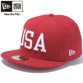 ニューエラ 5950キャップ ユーエスエーロゴ スカーレット スノーホワイト New Era 59Fifty Cap USA Logo Scarlet Snow White【あす楽対応_近畿】【あす楽対応_中国】【あす楽対応_四国】【あす楽対応_九州】
