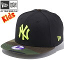 ニューエラ 950 スナップバック キッズ キャップ MLB ニューヨークヤンキース ブラッ