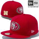 ニューエラ 5950キャップ レッドロゴ NFLカスタム ヒートシール サンフランシスコ 49ERS スカーレット New Era 59Fifty Cap Red Logo NFL Custom Heat Seal San Francisco 49ERS【あす楽対応_近畿】【あす楽対応_中国】【あす楽対応_四国】【あす楽対応_九州】