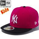 ニューエラ 5950キッズキャップ ツートーンボディ MLB ニューヨークヤンキース ブライトローズ New Era 59FIFTY Kids Cap 2Ton...