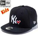 ニューエラ 950 スナップバック キッズ キャップ ハートロゴコレクション ニューヨークヤンキース ブラック New Era 9FIFTY Kids Cap H..