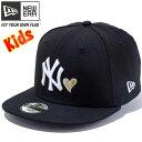 ニューエラ 950 スナップバック キッズ キャップ ハートロゴコレクション ニューヨークヤンキース ブラック ホワイト New Era 9FIFTY Snap Back Kids Cap Heart New York Yankees【あす楽対応_近畿】【あす楽対応_中国】【あす楽対応_四国】【あす楽対応_九州】