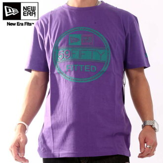 New era S/S T shirt INSP basic visor Varsity purple / Aqua New Era SS TEE INSP Basic Visor Tee Light Varsity purple/Aqua