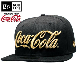 Coca-Cola x new era Cap Gold logo soda series Coca-Cola Coke Black / Gold Coca Cola×New Era Cap Gold logo soda series Coca Cola Coke