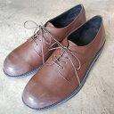 【ポイント12倍】 PADRONE パドローネ メンズ DERBY PLAIN TOE SHOES / NICOLO ニコロ DARK BROWN ダークブラウン PU8586-2005-17A ダービープレーントゥ 革靴