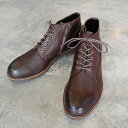 PADRONE パドローネ メンズ メンズ CHUKKA BOOTS with SIDE ZIP (WATER PROOF LEATHER) / BAGGIO バッジオ DARK BROWN ダークブラウン PU7358-1222-16A 革靴