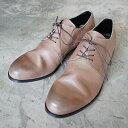 【ポイント12倍】 PADRONE パドローネ メンズ DERBY PLAIN TOE SHOES / JACK ジャック ASH GRAY アッシュグレー PU7358-2001-11C ダービープレーントゥ 革靴