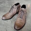 PADRONE パドローネ メンズ  CHUKKA BOOTS with SIDE ZIP / BAGGIO チャッカブーツ バッジオ ASH GRAY アッシュグレー PU7358-1205-13D 革靴