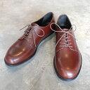 【ポイント12倍】 PADRONE パドローネ メンズ DERBY PLAIN TOE SHOES/ DANTE ダンテ DARK BROWN ダークブラウン PU8759-2001-18C 革靴 アーバンライン