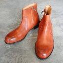 【ポイント12倍】 PADRONE パドローネ SIDE ZIP BOOTS / RAUL ラウル CAMEL キャメル PU7358-1118-15A 革靴 メンズ
