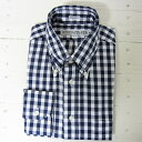 individualized shirts インディビジュアライズドシャツ [ls][big gingham][standard][navy]
