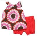 Carter's(カーターズ)USA直輸入正規品ブラウンに大輪のお花模様鮮やかキャミとブルマのセット...