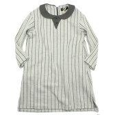【ユニカ/子供服/UNICA/子ども服】 ストライプ衿付きOP オフ(02)
