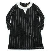 【ユニカ/子供服/UNICA/子ども服】 ストライプ衿付きOP クロ(04)