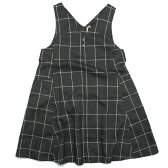 【ユニカ/子供服/UNICA/子ども服】 Vネックロングジャンバースカート グレー(13)