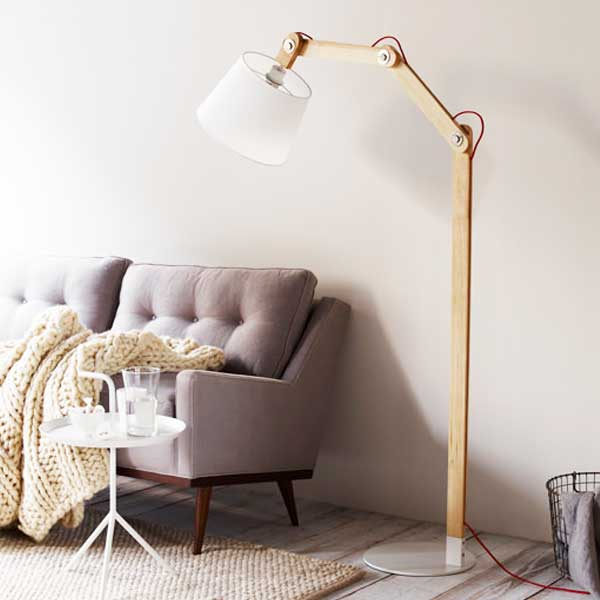 recolte レコルト Amabro Lumiere ルミエール Atria Fabric Floor Light アトリアファブリック アラビア カルテル フロアライト レッド LAT-F(R) 【送料無料】:citron glaces ナチュラルなあたたかさが空間を包み込みます。