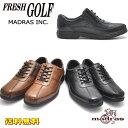ショッピング本革 即納 マドラス(madras)/フレッシュ ゴルフ/FRESH GOLF/本革/紐靴/ファスナー付/ビジネス/ウォーキング/FG734