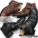即納 ブーツ メンズ サイドゴア ベルト シャーリングブーツ CND ショートブーツ No549