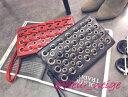 ショルダー クラッチ バッグ レディース 2way かばん 合皮 鞄 レザー ハトメ ハード デザイン