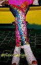 ショッピングフォームローラー レギンス ダンス 衣装 派手 ヒョウ柄 ひょう柄 レオパード ヨガ ポールダンス カラフル レインボー スパッツ レディース ガールズ 派手柄 10分丈 スパッツ レギンスパンツ ヒップホップ 送料無料