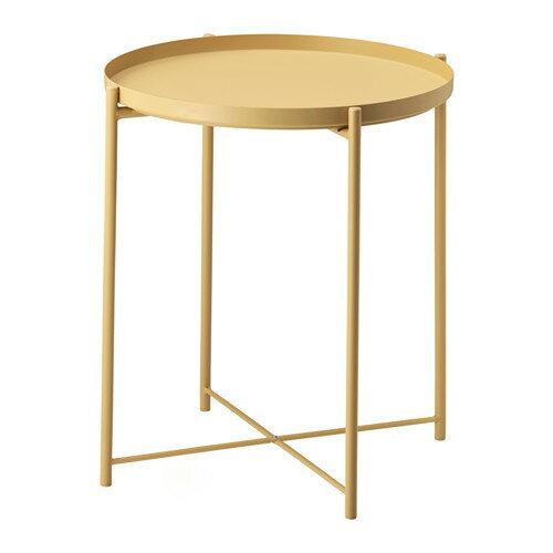 IKEA(イケア) GLADOM トレイテーブル ライトイエロー 20261256