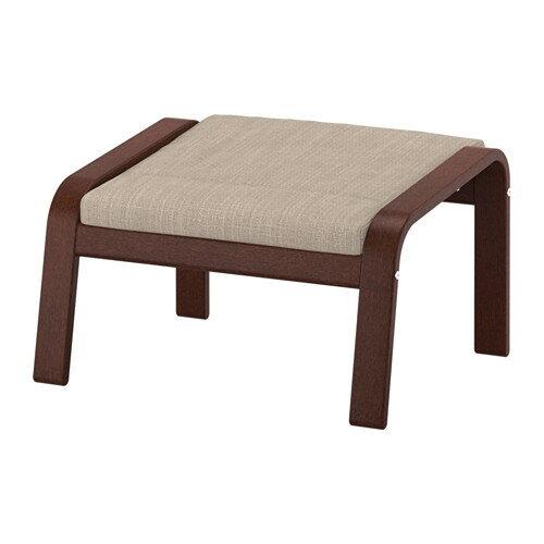 IKEA イケア POANG フットスツール ブラウン ヒッラレド ベージュ E49197849