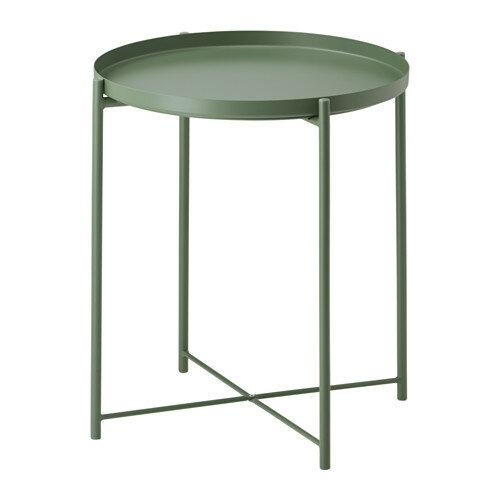 IKEA イケア GLADOM トレイテーブル ダークグリーン 70330672