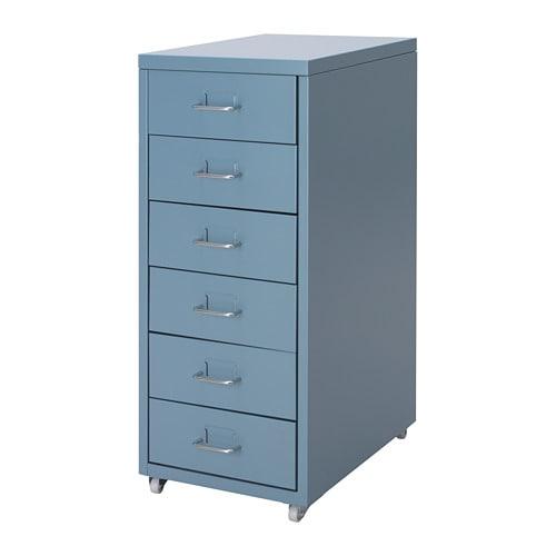 IKEA イケア HELMER 引き出しユニット キャスター付き ブルー 青 z00427031