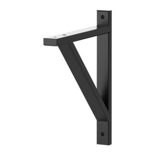 IKEA イケア EKBY VALTER エーケビュ ヴァルテル ブラケット ブラック28x31 cm z20167490