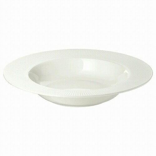 IKEA イケア 深皿 24cm ホワイト 白 OFANTLIGT E40319020