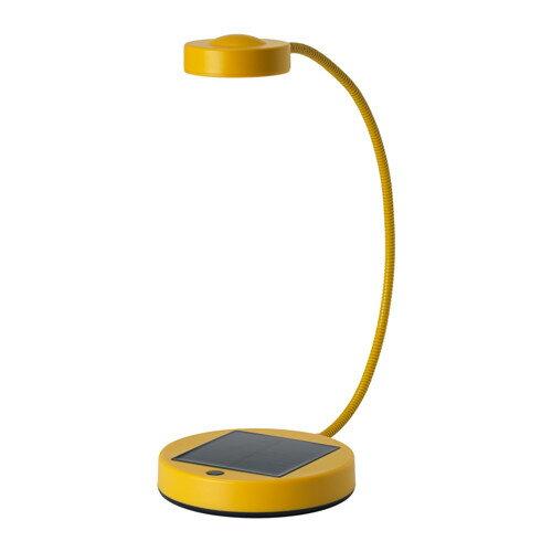SUNNAN LEDテーブルランプ, 太陽電池式, イエロー