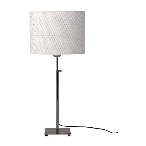 IKEA イケア ALANG テーブルランプ ニッケルメッキ ホワイト 50076549