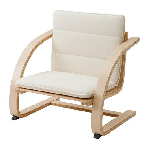 IKEA(イケア) PENARP アームチェア クッション付 バーチ材突き板 00282387