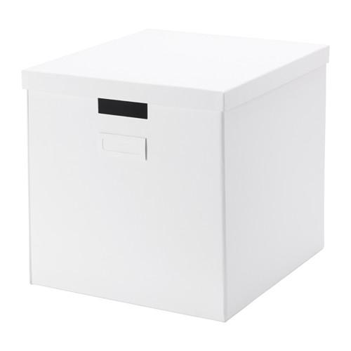 IKEA(イケア) TJENA ふた付きボックス ホワイト a50263635