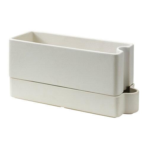 IKEA(イケア) SOTCITRON 自動水やり機能付き植木鉢 室内/屋外用 ホワイト d60289442