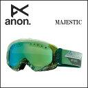 2014年モデル anon14-036 【ANON/アノン】ゴーグル MAJESTIC FAULTLINE/GREEN SLX アジアンフィット